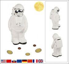 Keramik Spardose Astronaut Kosmonaut Raumfahrer Sparschwein 21 cm Höhe