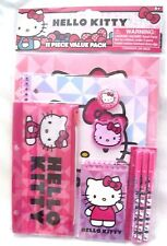 Sanrio Hello Kitty 11 Piece Stationary School Supply Carrying Pouch-Brand New!
