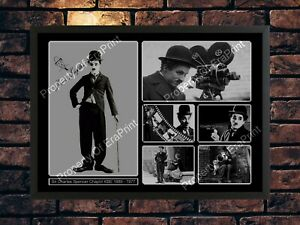 SIR CHARLIE CHAPLIN LIMITED EDITION  AUTOGRAPHED A4  SIGNED PHOTO PRINT
