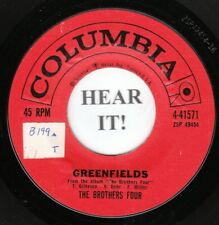 The Brothers Four FOLK 45 (Columbia 41571) Greenfields/Angelique-o  VG++/M-
