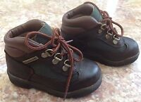 TIMBERLAND FIELD BOOT BROWN SCUFF PROOF KIDS PS SIZE 8