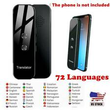 Handheld Smart Two-Way Translator 70+ Languages Voice Recognition Bluetooth New