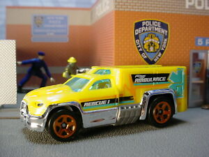 2020 Hw Rescate  Diseño Rescate Duty Amarillo; Ambulancia Loose hot wheels