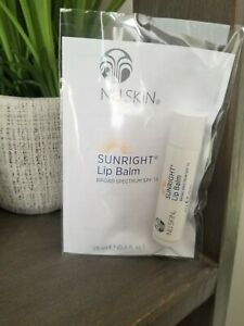Nu Skin Nuskin Sunright Lip Balm SPF 15 0.15 oz/15ml Tube Stick Lip Protection