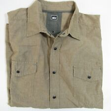 REI Snap Button Shirt Women's Size L Brown Camping Hiking Large Outdoors Top
