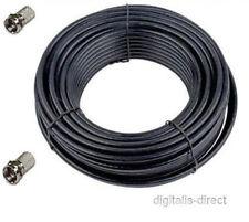 Satellite TV Coaxial Cable 25m Webro WF100 + 2 F Connectors CT100 Copper Core