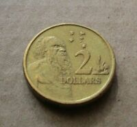 AUSTRALIAN 2000 ABORIGINAL ELDER...  $2.00 DOLLAR COIN.....LOWER MINTAGE
