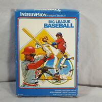 Intellivision Big League Baseball Manual and Box in protective sleeve GUARANTEED