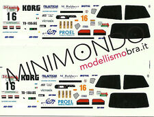 DECALS RENAULT CLIO WILLIAMS COPPA LIBURNA 2000 BALDACCI 1/43 MERI KITS MS054