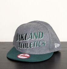 NEW ERA Gris Melton Wave Rétro Logo Oakland Athletics 9 fifty Snapback Baseball