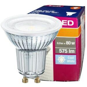 LAMPADA LED OSRAM LAMPADINA LED GU10 IN VETRO DA 6,9W SPOTLIGHT 120° 6,9W - 80W