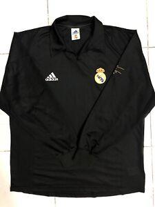REAL MADRID AWAY FOOTBALL JERSEY VINTAGE LONG SLEEVE ORIGINAL 2001 2002 Adidas