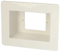 Recessed Power Point Wall Box Plate GPO Behind TV - AV-RPS02