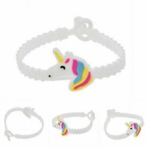 2PCS Unicorn Silicone Wristbands Rubber Bracelets Toys Birthday Party Gift