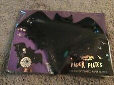 BNIP New Ginger Ray Pack of 6 Halloween Plates - 31cm Wide - Bat Shaped - Batman