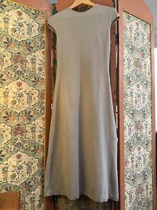 Grey High-neck Carla Zampatti Maxi Dress Size 6