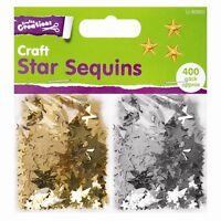 Craft Star Sequins Crafts Silver Gold 400 pcs Cardmaking