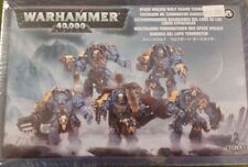 Warhammer 40K SPACE WOLVES WOLF GUARD TERMINATORS, 5 Man Squad, 100 piece set