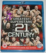 GREATEST SUPERSTARS OF THE 21ST CENTURY SIGNED BLU RAY BY EDGE WRESTLING STAR