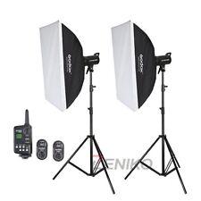2X Godox SK400 Studio Flash Strobe + FT-16 Trigger + Softbox + Light Stand Kit