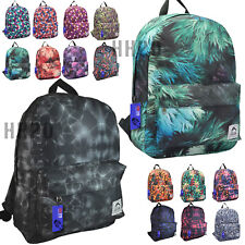 Backpack Rucksack Large Big School Gym  Bag Ladies Girls Mens Boys Travel Print