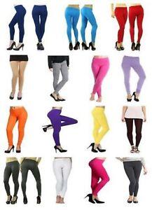 Girls Children Full Length Cotton Leggings Kids Pants All Ages +15 Colours(3130)