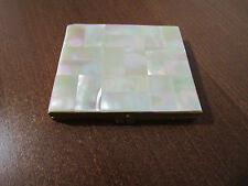 VINTAGE MOTHER OF PEARL  POWDER BOX