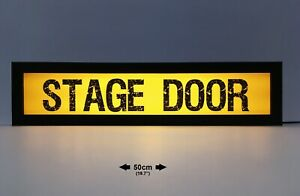 STAGE DOOR - 50cm Vintage Style Light Sign, Light Box - USB Powered (21)