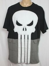 Marvel The Punisher Frank Castle Skull Cosplay T-Shirt Sewn Logo Flap Pockets XL