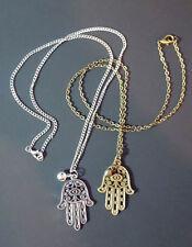 Collares y colgantes de bisutería de bronce sin piedra