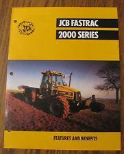 JCB 2000 Series Fastrac Tractor Spec Sheet Brochure Literature
