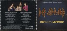 CD DEF LEPPARD DEFINITE LEPPARD A COLLECTION OF CLASSIC TRACKS 1999 PROMO