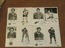 Montreal Canadiens SIGNED (AUTOGRAPHED) Photos.  38 Photos, Many Hall of Famers