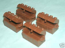 Lego 4 x Minifigure Pirate Brown Treasure Chests with hinged lid