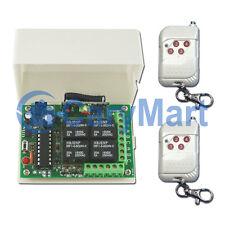 4 Canaux RF Interrupteur Télécommande Sans Fil Emetteur & Récepteur Kit CC 12V