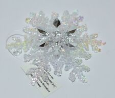 BATH & BODY WORKS LARGE CLEAR SNOWFLAKE MAGNET LARGE 3 WICK CANDLE DECOR TOPPER