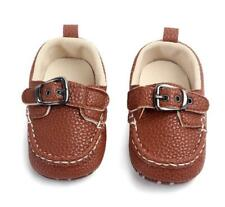 Baby Boy Mod Leather Loafer Shoes - Soft Sole - Crib Shoe - Anti-Slip