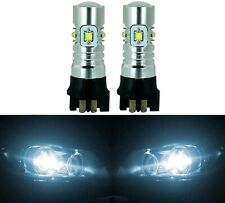 LED 30W 12177 PW16W White 6000K Two Bulbs Back Up Reverse Light Audi BMW
