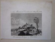 1845 MONUMENTI AZTECHI CHOLULA Marmocchi Pyramid Tlachihualtepetl Aztec Puebla