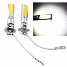 2Pcs H3 COB LED Bright Xenon White 6000K Car Auto Fog Light Lamp Bulb 12V New