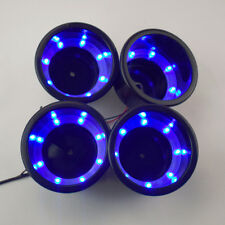 4PCS 8LED Blue Plastic Cup Drink Holder Marine Boat Car Truck Camper Practical