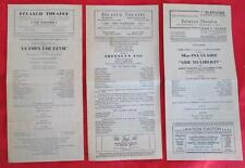 LOT OF 3 BELASCO THEATRE L.A. 1930 PLAYBILLS THE PLAYGOER