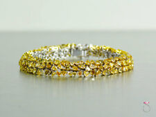 Fancy Yellow Diamond Bracelet, 14.25 Carats. 18K Gold. Stunning.