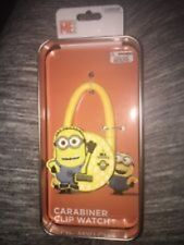 NEW Despicable Me Carabiner Clip Watch in Collectible Metal Tin