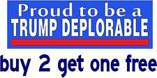 TRUMP DEPLORABLE - Bumper Sticker - Hillary Clinton deplorables - GoGostickers