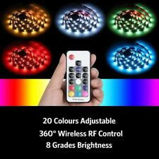 Colourful LED Strip Light 2M TV Backlight USB Powered + Remote Control Christmas