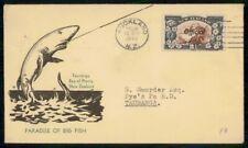 New Zealand 1944 Official Paradise of Big Fish Shark Cachet to Tauranga Cover kk