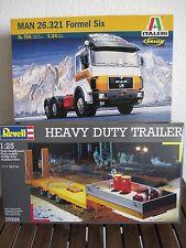 MAN 26.321 Formel Six von Italeri+Heavy Duty Trailer von Revell im Maßstab 1:24