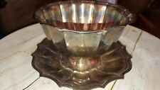 International Silver Co Chippendale  NUT BOWL W/ UNDERPLATE