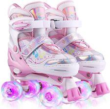 New listing Hikole Roller Skates Kids Children,Adjustable Light Up Skates for Girls Boys US